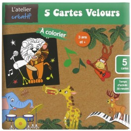 Cartes velours La Jungle