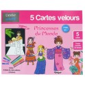 Cartes velours Princesses du Monde
