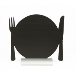 Silhoutte de table avec socle aluminium ASSIETTE