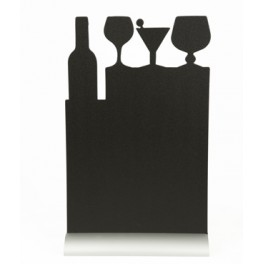 Silhoutte de table avec socle aluminium COCKTAIL