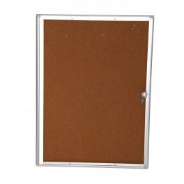 Vitrine d'affichage extra-plate fond liège Gamme Eco pour intérieur