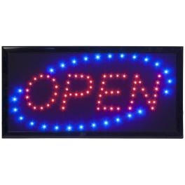 "Enseigne lumineuse à LED ""OPEN"""