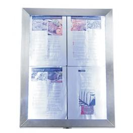 PORTE MENU LED GAMME CLASSIC EN ACIER FIXATION MURALE