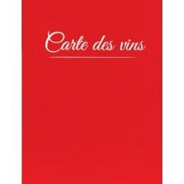 Carte des vins Casselin Classique A4 Rouge