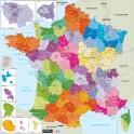 Carte de France administrative 13 régions - magnétique
