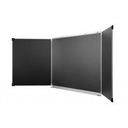 Tableau triptyque noir