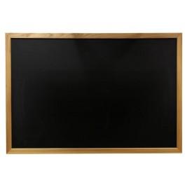Tableau simple noir encadrement bois massif