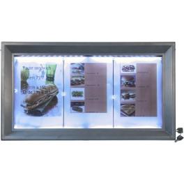 Panneau lumineux à LED pour cafés et restaurants gris métallisé