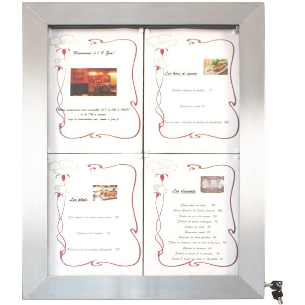 Panneau Lumineux à LED Pour Cafés Et Restaurants En Inox Café - Porte menu restaurant