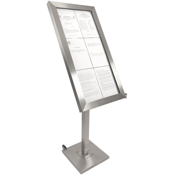 Panneau Lumineux à LED Pour Cafés Et Restaurants En Inox Sur Pied - Porte menu restaurant