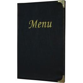 Protège-menus classique noir