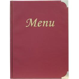 Protège-menus classique bordeaux