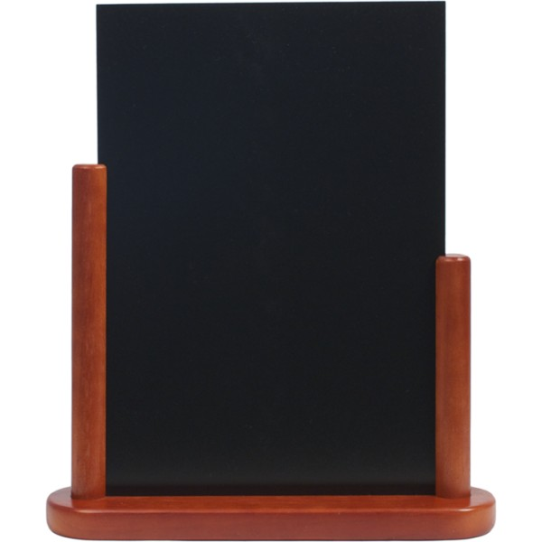 porte menu de table cadre bois coloris acajou caf h tel. Black Bedroom Furniture Sets. Home Design Ideas