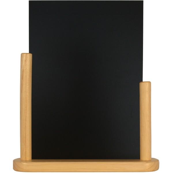 porte menu de table cadre bois coloris naturel caf h tel restaurant. Black Bedroom Furniture Sets. Home Design Ideas