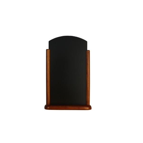 Porte menu de table cadre bois arrondi coloris wenge - Cadre de porte en bois ...