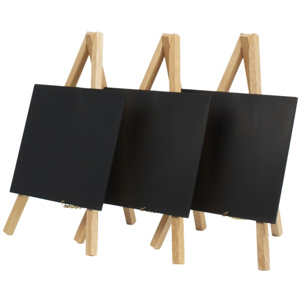 set de 3 chevalets de table avec ardoises plastiques caf h tel restaurant. Black Bedroom Furniture Sets. Home Design Ideas