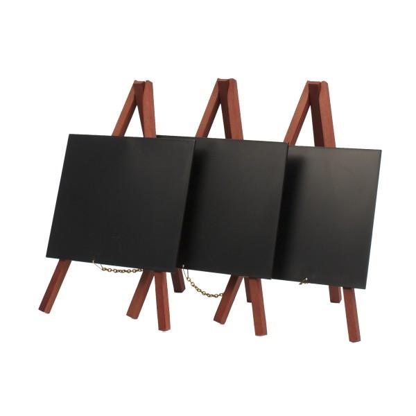Set de 3 chevalets de table avec ardoises plastiques caf h tel restaurant - Set de table design plastique ...