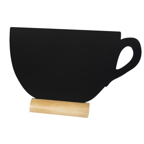 ardoise noire silhouette de table tasse caf h tel. Black Bedroom Furniture Sets. Home Design Ideas