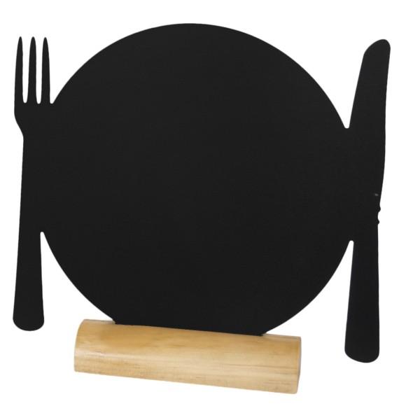Ardoise noire silhouette de table assiette caf h tel for Ardoise noire cuisine