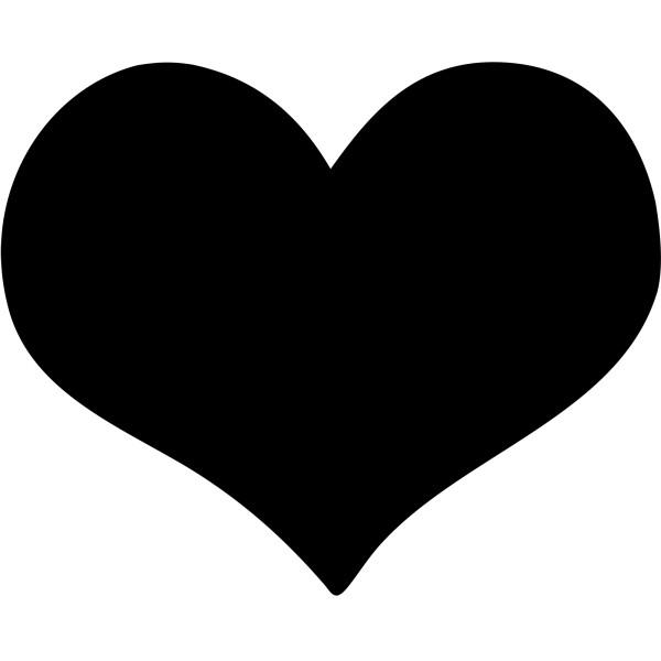 Ardoise Noire Pour Restaurants Silhouette Murale Coeur