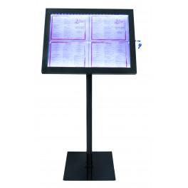 Porte menu à LED Design Noir