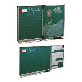 Tableau diptyque enfant 60 x 100 vert